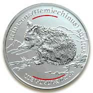 "<Font 045>Armenia Silver Coin, 1 oz. (045)<br><font color=red size=+1>Wide Eared Hedgehog<br></font><a href=""/images/ArmeniaSilver-45F.jpg"">   <font color=green><b>View the image</b></a></font>"