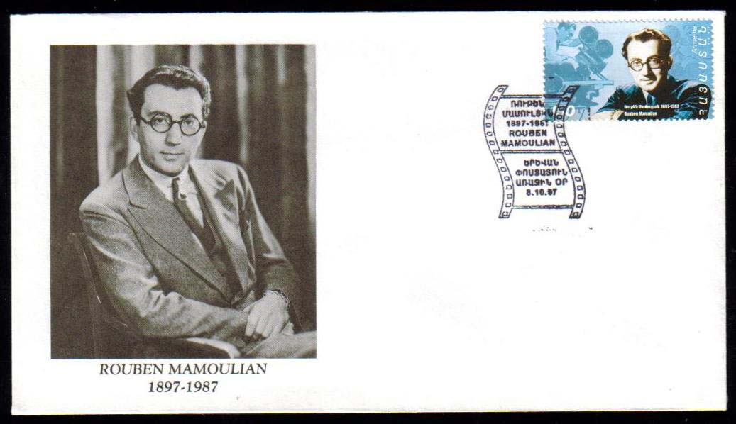 "<font 2-122c>122, FDC, Rouben Mamulian, his picture as cachet, Scott #557<p> <a href=""/images/ArmenianStamps-122-FDC-C.jpg"">   <font color=green><b>View the image</b></a></font>"