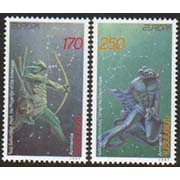 "<font 1-124>124-5, EUROPA, Legends, 1st issue.  Scott #560-1<p> <a href=""/shop/catalog/images/ArmenianStamps-124-125.jpg"">   <font color=green><b>View the image</b></a></font>"