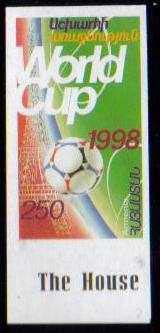"<font 9-141a>1998 World Soccer Cup, Imperf, Single.  You will get this exact imperf stamp.  <p> <a href=""/shop/catalog/images/ArmenianStamps-141-imperf-single1.jpg"">   <font color=green><b>View the image</b></a></font>"