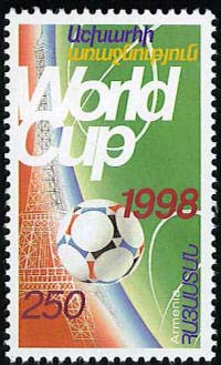 <font 1-141>141, 1998 World Soccer Cup, France. Scott #576<p> <a href=&quot;/shop/catalog/images/ArmenianStamps-141.jpg&quot;>   <font color=green><b>View the image</b></a></font>