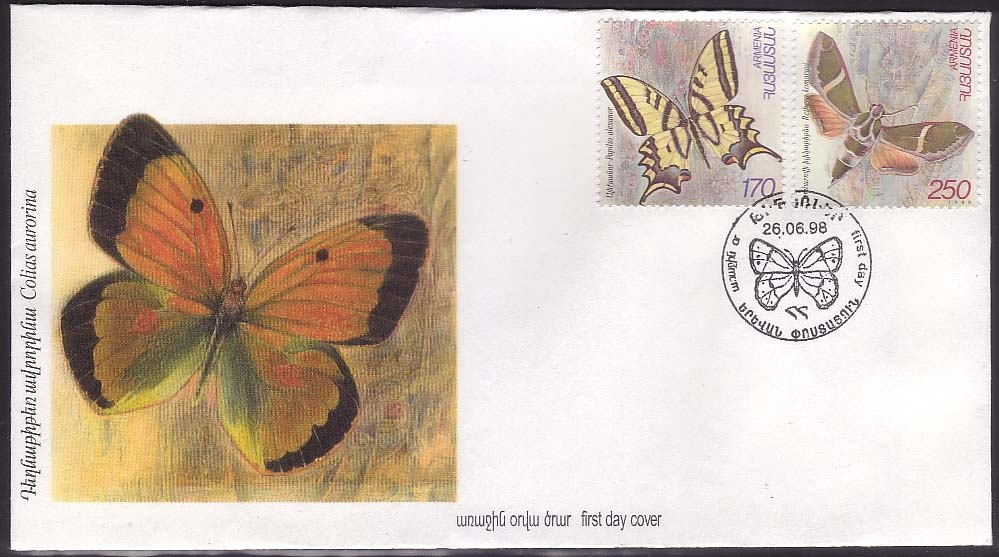 "<font 2-144>144-5, FDC, Butterflies of Armenia, Scott #579-80<p> <a href=""/images/ArmenianStamps-144-145FDC.jpg"">   <font color=green><b>View the image</b></a></font>"
