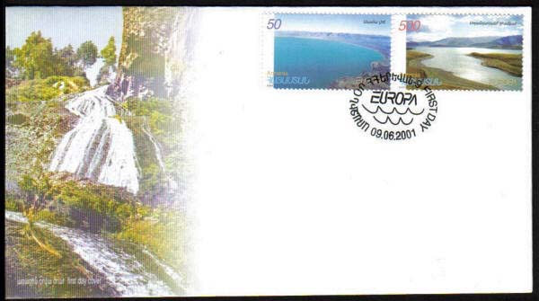 "<font 2-236f>236-7, FDC, Europa 2001, Water Natural Treasure, Scott #629-30<p> <a href=""/shop/catalog/images/ArmenianStamps-236-237-FDC.jpg"">   <font color=green><b>View the image</b></a></font>"