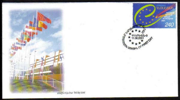 "<font 2-238f>238, FDC, Armenia accepted in the European Council, Scott #631<p> <a href=""/shop/catalog/images/ArmenianStamps-238-FDC.jpg"">   <font color=green><b>View the image</b></a></font>"