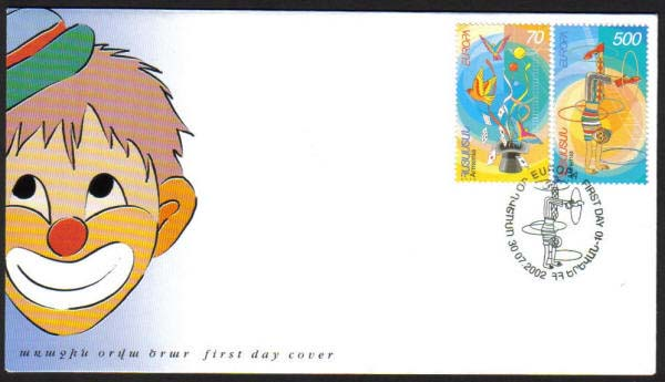 "<font 2-269f>269-70, FDC, Europa 2002 Scott #657-8. <p> <a href=""/shop/catalog/images/ArmenianStamps-269-270-FDC.jpg"">   <font color=green><b>View the image</b></a></font>"