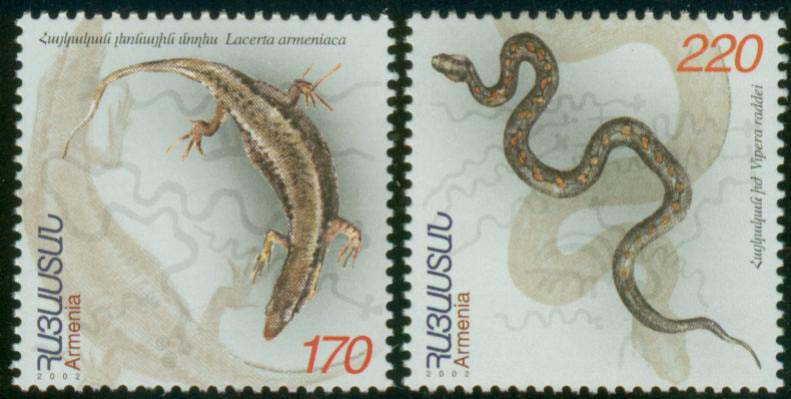 "<font 1-274a>274-5, Reptiles Scott #662-3. <p> <a href=""/shop/catalog/images/ArmenianStamps-274-275.jpg"">   <font color=green><b>View the image</b></a></font>"