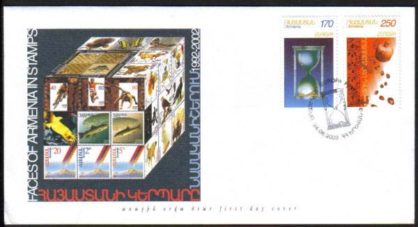<font 2-282f>282-3, FDC, Europa, Poster Art Scott #670-1. <p> <a href=&quot;/shop/catalog/images/ArmenianStamps-282-283-FDC.jpg&quot;>   <font color=green><b>View the image</b></a></font>