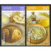 "<font 1-324a>324-5, EUROPA 2005, Armenian Cuisine, Scott #713-4. <p><font color=red><b> Items with a $0.00 price are not available, they are listed as reference only. </font></b> <p> <a href=""/shop/catalog/images/ArmenianStamps-324-325.jpg"">   <font color=green><b>View the image</b></a></font>"