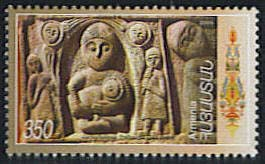 <font 1-326a>326, Motherhood.  Stone carvings from 16th century Scott #712. <p> <a href=&quot;/shop/catalog/images/ArmenianStamps-326.jpg&quot;>   <font color=green><b>View the image</b></a></font>