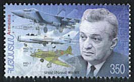 <font 1-331a>331, Artem Mikoyan, designer and inventor of Mig Jet Scott #719. <p> <a href=&quot;/shop/catalog/images/ArmenianStamps-331.jpg&quot;>   <font color=green><b>View the image</b></a></font>