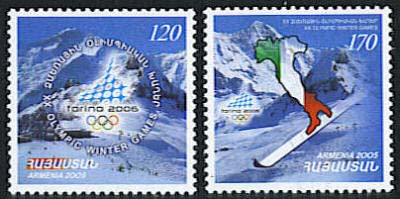"<font 1-339a>339-40, Torino Winter Olympic Games Scott #728-9. <p> <a href=""/shop/catalog/images/ArmenianStamps-339-340.jpg"">   <font color=green><b>View the image</b></a></font>"