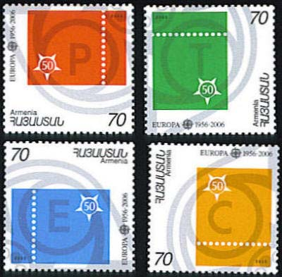 <font 1-347a>347-50, 50th Anniversary of Europa, Scott #736-. <p> <a href=&quot;/shop/catalog/images/ArmenianStamps-347-350.jpg&quot;>   <font color=green><b>View the image</b></a></font>