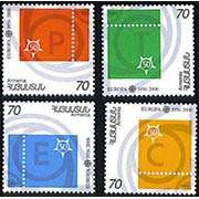 "<font 1-347a>347-50, 50th Anniversary of Europa, Scott #736-. <p> <a href=""/shop/catalog/images/ArmenianStamps-347-350.jpg"">   <font color=green><b>View the image</b></a></font>"