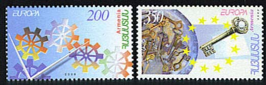 <font 1-355a>355-6, EUROPA 2006, Integration by Youth Imagination Scott #745-6. <p> <a href=&quot;/shop/catalog/images/ArmenianStamps-355-356.jpg&quot;>   <font color=green><b>View the image</b></a></font>