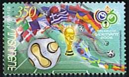 "<font 1-357a>357, FIFA, World Soccer Cup.  Scott #744. <p> <a href=""/shop/catalog/images/ArmenianStamps-357.jpg"">   <font color=green><b>View the image</b></a></font>"