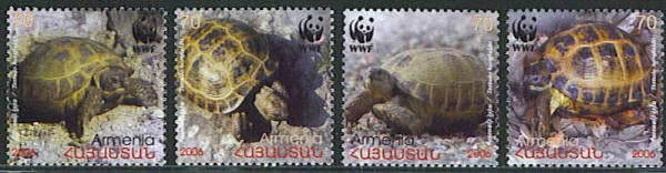 <font 1-364a>364-7, WWF Turtles of Armenia, set of 4, (Not listed in Scott catalog). <p> <a href=&quot;/shop/catalog/images/ArmenianStamps-364-367.jpg&quot;>   <font color=green><b>View the image</b></a></font>