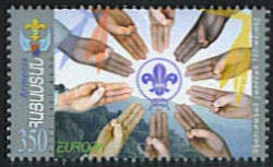 <font 1-412a>412, Europa 2007, 100th anniversary of Scouting, Scott #756. <p> <a href=&quot;/shop/catalog/images/ArmenianStamps-412.jpg&quot;>   <font color=green><b>View the image</b></a></font>