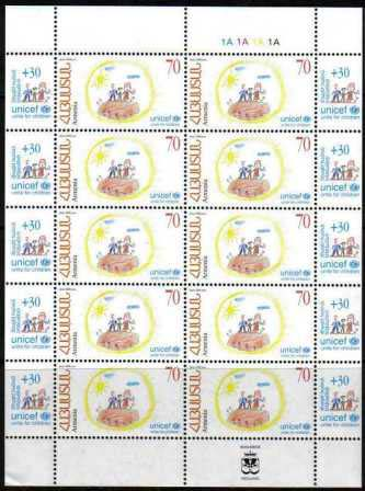 "<font 4-432c>432, UNICEF, Complete sheet of 10. <p> <a href=""/shop/catalog/images/ArmenianStamps-432-sheet.jpg"">   <font color=green><b>View the image</b></a></font>"