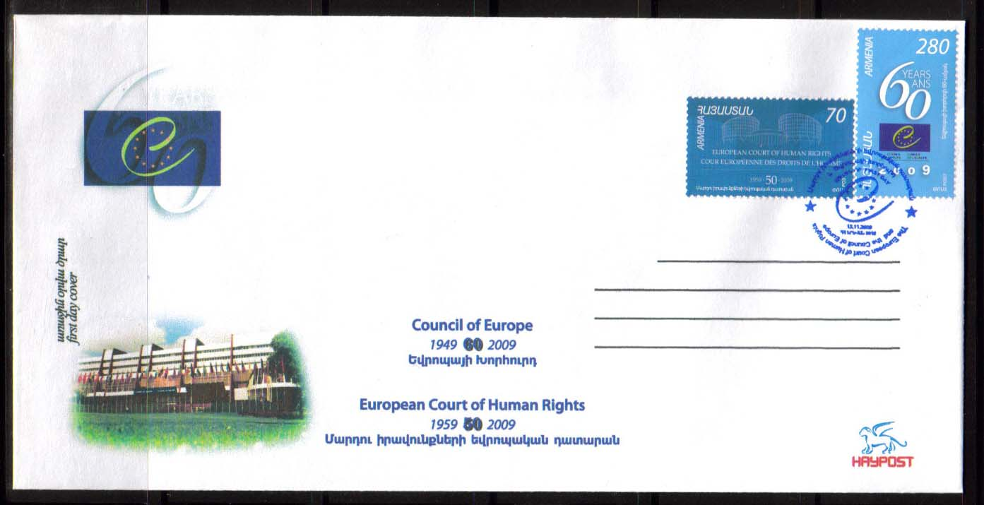 <font 2-463d>462 and 463, 60th Anniversary of Council of Europe, FDC. The FDC includes both stamps. <p> <a href=&quot;/shop/catalog/images/ArmenianStamps-462-3-FDC.jpg&quot;>   <font color=green><b>View the image</b></a></font>