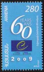 <font 1-463a>463, 60th Anniversary of Council of Europe, a single stamp. Scott #805. <font 1-462a>462, 50th Anniversary of European Court of Human Rights, a single stamp. Scott #804.  <font color=red><b>Sold Out</font></b> <p> <a href=&quot;/shop/catalog/images/ArmenianStamps-463.jpg&quot;>   <font color=green><b>View the image</b></a></font>