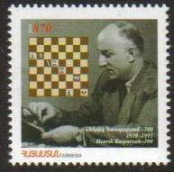 "<font 1-492a>492, Henrik Kasparyan, World Chess Champion.  Scott #839<br>A single stamp<br> Date of Issue: Feb. 27, 2010<br> <a href=""/images/ArmenianStamps-492.jpg"">   <font color=green><b>View the image</b></a></font>"