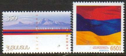 <font 1-498a>498-9, Independence Day.  Scott #843-844 <br>Set of 2<br>Date of Issue: Sept 21, 2010<br> <a href=&quot;/images/ArmenianStamps-498-499.jpg&quot;>   <font color=green><b>View the image</b></a></font>