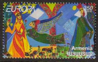 <font 1-500a>500, Europa, Children books and stories.  Scott #847 <br>Single Stamp<br>Date of Issue: Oct 8, 2010<br> <a href=&quot;/images/ArmenianStamps-500.jpg&quot;>   <font color=green><b>View the image</b></a></font>
