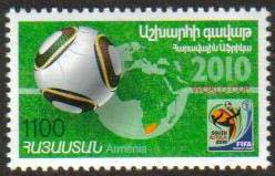 "<font 1-508a>508, South Africa World Soccer Cup.  Scott #849 <br> A single stamp<br>Date of Issue: Nov. 26, 2010<br> <a href=""/images/ArmenianStamps-508.jpg"">   <font color=green><b>View the image</b></a></font>"