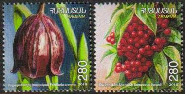 <font =1-19a>518-9, Fruits of Armenia,  Scott #870-1 <br>A set of 2 stamps.<br>Date of Issue: Feb. 2, 2011<br> <a href=&quot;/images/ArmenianStamps-518-519.jpg&quot;>   <font color=green><b>View the image</b></a></font>