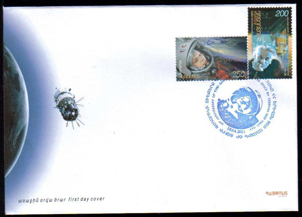 <font =2-32f>532-3, Space achievements, Yuri Gagarin,  Scott #--- <br>Official FDC. <br>Date of Issue: April 18, 2011<br> <a href=&quot;/images/ArmenianStamps-532-533-FDC.jpg&quot;>   <font color=green><b>View the image</b></a></font>