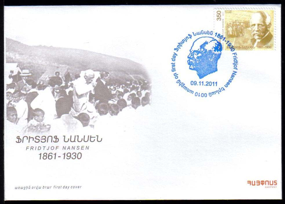 "<font =2-544a>544, Fridtjof Nansen, 150th Birth Anniversary, Scott #--- <br>Official FDC <br>Date of Issue: November 09, 2011<br> <a href=""/images/ArmenianStamps-544-FDC.jpg"">   <font color=green><b>View the image</b></a></font>"
