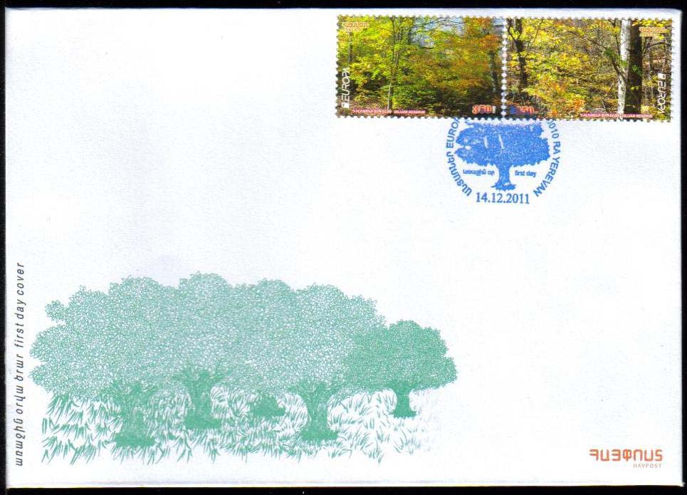 <font =2-549>549-50, Europa 2011, Forests, Scott #--- <br>Official FDC <br>Date of Issue: December 14, 2011<br> <a href=&quot;/images/ArmenianStamps-549-550-FDC.jpg&quot;>   <font color=green><b>View the image</b></a></font>