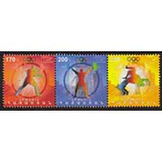 "<font =1-581>581-3, London Olympic Games, strip of 3 stamps, Scott #916 <br>Date of Issue: November 30, 2012 <br> <a href=""/images/ArmenianStamps-581-583.jpg"">   <font color=green><b>View the image</b></a></font>"