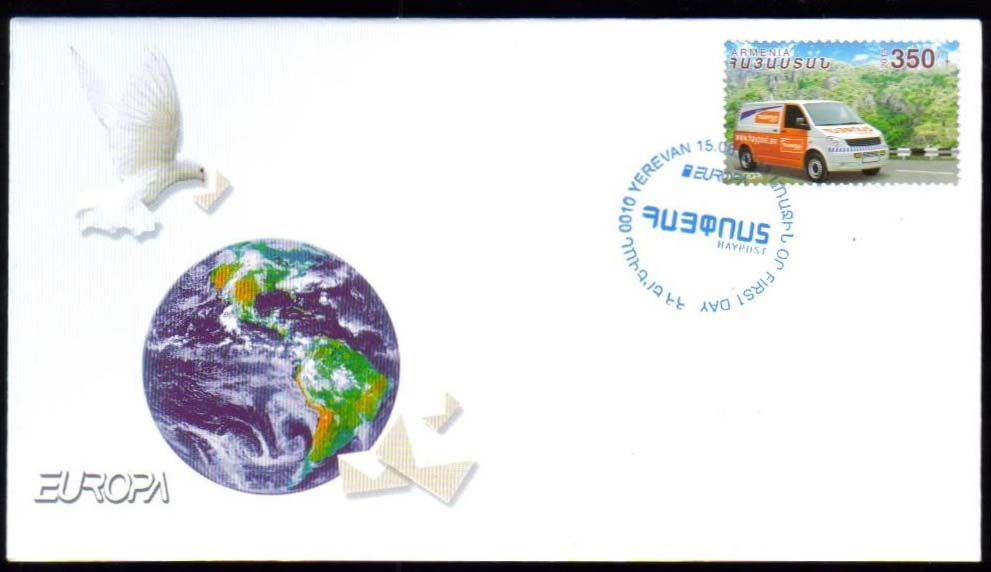 "<font =2-621>621, Europa 2013, Postal Van, Official FDC, Scott #--- <br>Date of Issue: August 15, 2013 <br> <a href=""/images/ArmenianStamps-621-FDC.jpg"">   <font color=green><b>View the image</b></a></font>"