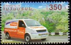 "<font =1-621a>621, Europa 2013, Postal Van, a single stamp, Scott #947 <br>Date of Issue: August 15, 2013 <br> <a href=""/images/ArmenianStamps-621.jpg"">   <font color=green><b>View the image</b></a></font>"