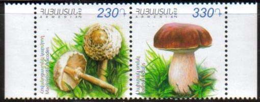 "<font =1-642b>642-643, Mushrooms, set of 2 se-tenant stamps, Scott #965-966 <br>Date of Issue: -----      <br> <a href=""/images/ArmenianStamps-642-643-ST.jpg"">   <font color=green><b>View the image</b></a></font>"