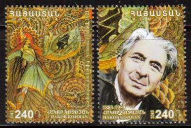 <font =1-644>644-645, Hagop Kojoian, painter, set of 2 stamps, Scott #967-968 <br>Date of Issue: -----      <br> <a href=&quot;/images/ArmenianStamps-644-645.jpg&quot;>   <font color=green><b>View the image</b></a></font>