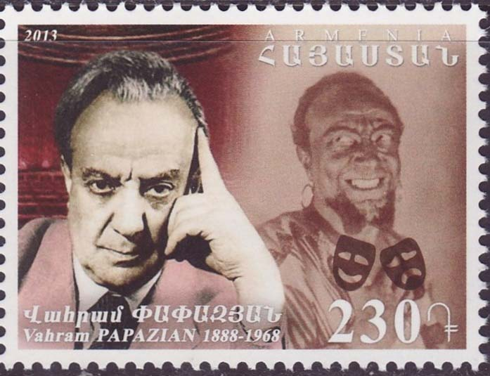 "<font =1-652>652, Vahram Papazian, Actor a single stamp, Scott #973 <br>Date of Issue: -----      <br> <a href=""/images/ArmenianStamps-652.jpg"">   <font color=green><b>View the image</b></a></font>"