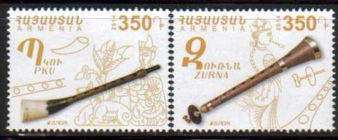 <font =1-674>674-675, Europa 2014, Musical Instruments, Scott #992-993 <br>Date of Issue: May 24<br> <a href=&quot;/images/ArmenianStamps-674-675.jpg&quot;>   <font color=green><b>View the image</b></a></font>