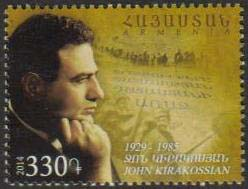 "<font =1-685>685, John Kirakossian, 100th Anniversary, Scott #998 <br>Date of Issue: July 29<br> <a href=""/images/ArmenianStamps-685.jpg\"">   <font color=green><b>View the image</b></a></font>"