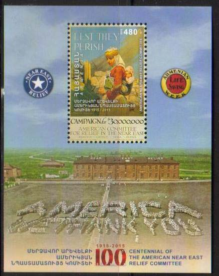 <font =1-720>720, Centennial of the Armenian Genocide, Near East Relief Campaign, a single Souvenir Sheet, Scott # <br>Date of Issue: May 6<br> <a href=&quot;/images/ArmenianStamps-720.jpg&quot;>   <font color=green><b>View the image</b></a></font>