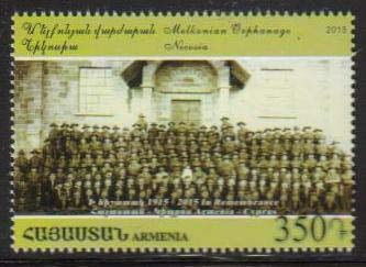 "<font =1-721>721, Centennial of the Armenian Genocide, joint issue with Cyprus, the Melkonian Orphanage in Nicosia, Scott # <br>Date of Issue: April 2<br> <a href=""/images/ArmenianStamps-721.jpg"">   <font color=green><b>View the image</b></a></font>"