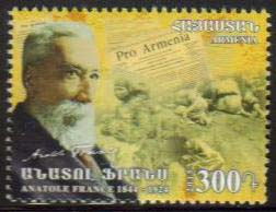 <font =1-722>722, Centennial of the Armenian Genocide, Anatol France, French poet and Journalist, Scott #... <br>Date of Issue: April 23<br> <a href=&quot;/images/ArmenianStamps-722.jpg&quot;>   <font color=green><b>View the image</b></a></font>