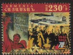 "<font =1-724>724, WWII 70th Anniversary, Scott #... <br>Date of Issue: May 8<br> <a href=""/images/ArmenianStamps-724.jpg"">   <font color=green><b>View the image</b></a></font>"