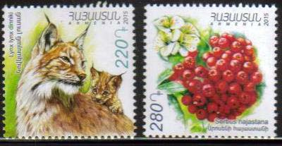 "<font =1-742>742-743, Fauna and Flora of Armenia, Scott #1054-1055 <br>Date of Issue: Dec 28<br> <a href=""/images/ArmenianStamps-742-743.jpg"">   <font color=green><b>View the image</b></a></font>"