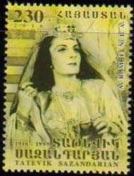 "<font =1-769>769, Tatevik Sazandarian, Opera Singer, a single stamp, Scott #1076 <br>Date of Issue: October 4<br> <a href=""/images/ArmenianStamps-769.jpg\"">   <font color=green><b>View the image</b></a></font>"
