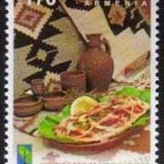 "<font =1-776>776, National Cuisine, Telbats Koubati dish, a single stamp, Scott #1081 <br>Date of Issue: Nov 28<br> <a href=""/images/ArmenianStamps-776.jpg"">   <font color=green><b>View the image</b></a></font>"