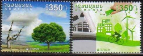 <font =1-777>777-778, Europa, Think Green, set of 2 se-tenant, Scott #1082 <br>Date of Issue: Dec 1<br> <a href=&quot;/images/ArmenianStamps-777-778.jpg&quot;>   <font color=green><b>View the image</b></a></font>