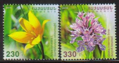 <font =1-790>790-791, Flowers of Armenia, set of 2, Scott #1094-1095 <br>Date of Issue: Dec 29<br> <a href=&quot;/images/ArmenianStamps-790-791.jpg&quot;>   <font color=green><b>View the image</b></a></font>