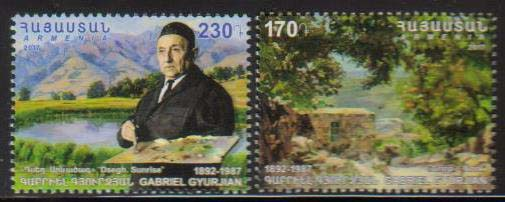 <font =1-805>805-806, Gabriel Gyurjian, Painter, set of 2, Scott #1107-1108 <br>Date of Issue: July 20<br> <a href=&quot;/images/ArmenianStamps-805-806.jpg&quot;>   <font color=green><b>View the image</b></a></font>